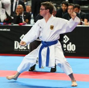 Karate-Weltmeister Marvin Nöltge. Foto: Melanie Müller/DKV