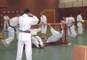 Die Teilnehmer beim Circuit-Training.
